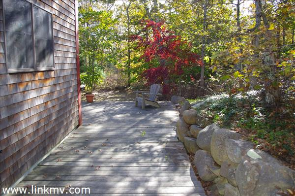 Deck, Stone Walls and Maples