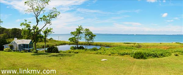 Water views and waterfront on Vineyard Sound