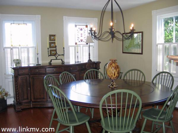 Dining room with beautiful buffet