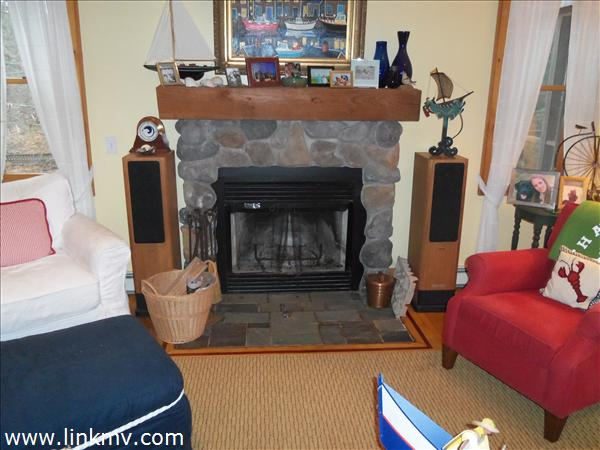 Wood burning fireplace in Living room 15 x 16 feet
