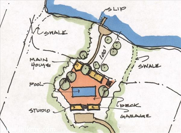Site plan for camp compound
