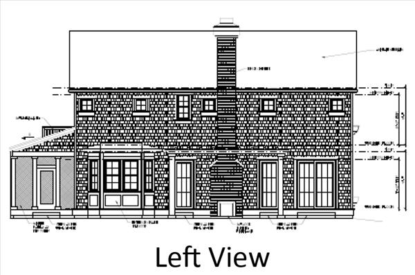 Main House Left Elevation