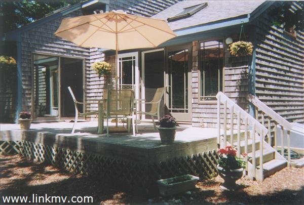 Back Deck with Patio Table