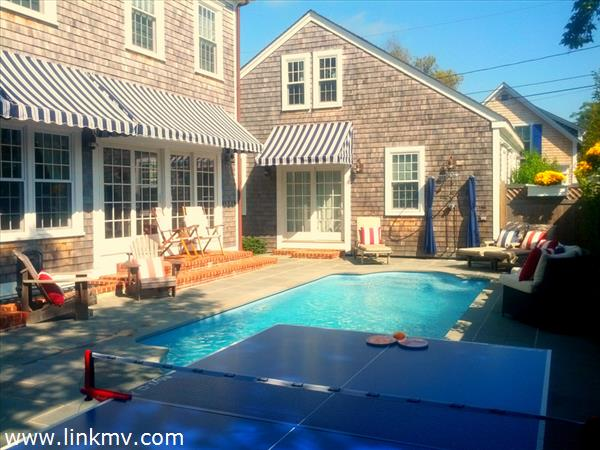 Spacious yard with heated in-ground pool - great for kids and entertaining