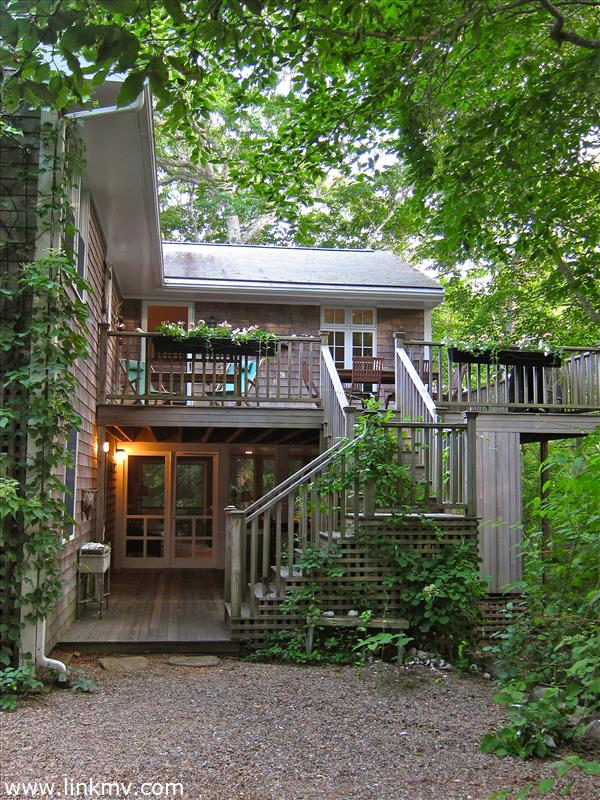 Stairs to deck and porch
