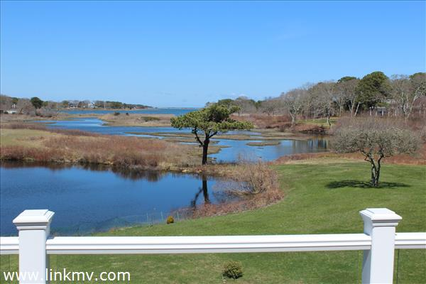 View from the deck of Sengekontacket and Nantucket Sound beyond