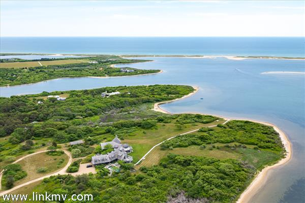 Aerial view of 29.3 acre estate
