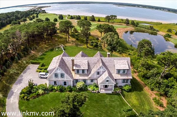 Property View From The Air With Sengekontacket Pond and Nantucket Sound Views