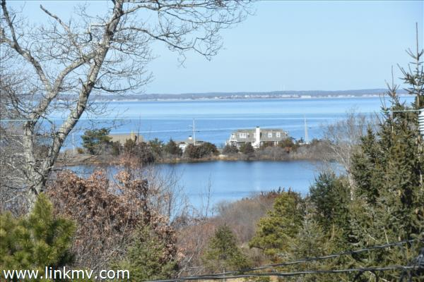 Water views of Crystal Lake foreground and Vineyard Sound 3rd floor
