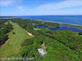 Aerial view over Mink Meadows 9th hole!
