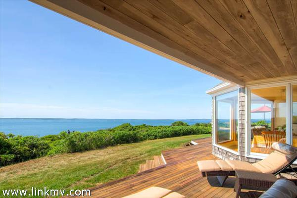 Decks overlooking Vineyard Sound