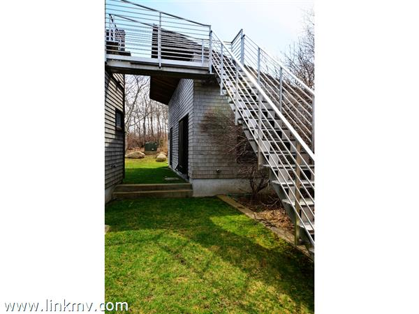 stairs to the roof deck