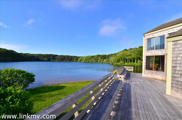 Sengekontacket Community Clubhouse overlooking Fresh Pond