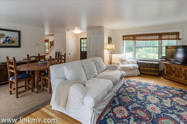 Open living and dining area with plenty of natural light.