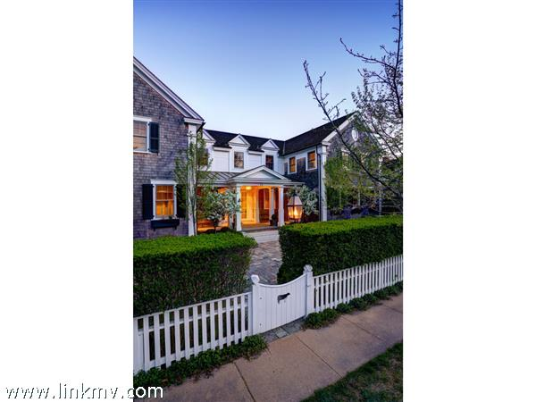 Front of the House facing Pease\'s Point Way and Edgartown Village