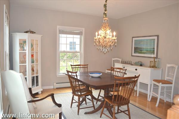 Freshly Painted Light Filled Dining Room