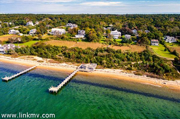 View From Vineyard Haven Harbor Toward Dock, Boat House & Main House