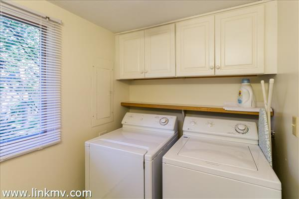 Laundry area in first floor powder room.