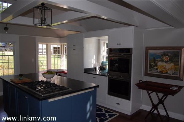 Double Wall Ovens, Soapstone Countertops, Over Sized Kitchen Island