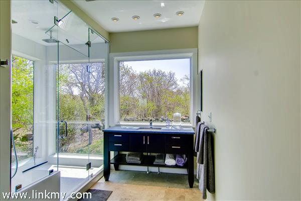 and luxurious master bath