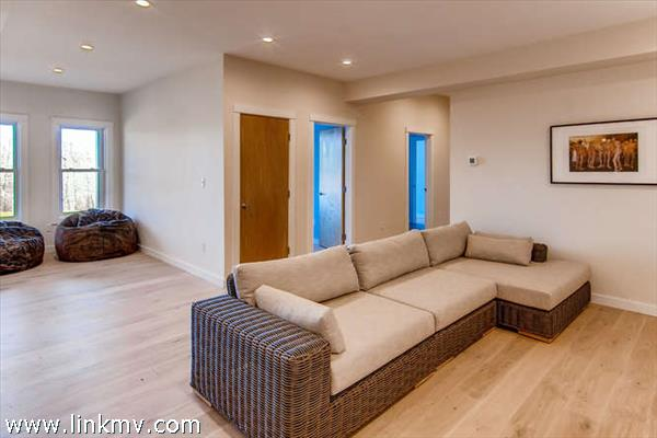 to the family room,