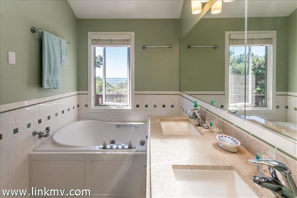 Newly renovated master bath