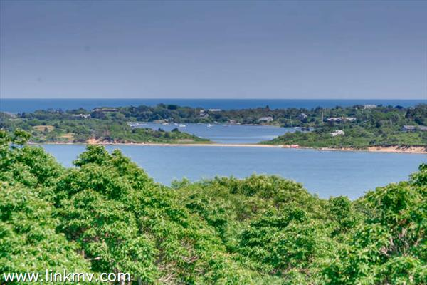 Water views across Menemsha Pond and Quitsa to the Atlantic