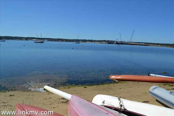 Kayak or Conoe at this beautiful,quiet beach on Lagoon pond. Imagine the Sunsets!