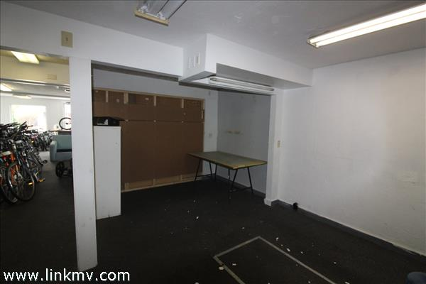 Space at rear of retail area