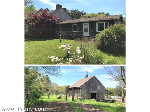 Main 4 bedroom house plus 2 story horse barn. On 1.38 acres.