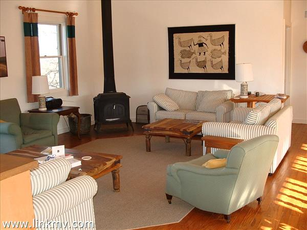 West Tisbury contemporary home living room