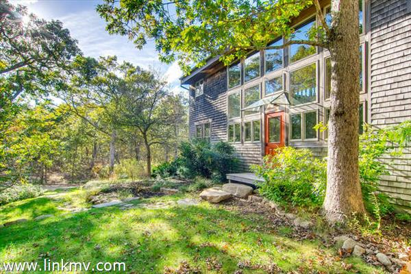 West Tisbury contemporary home front