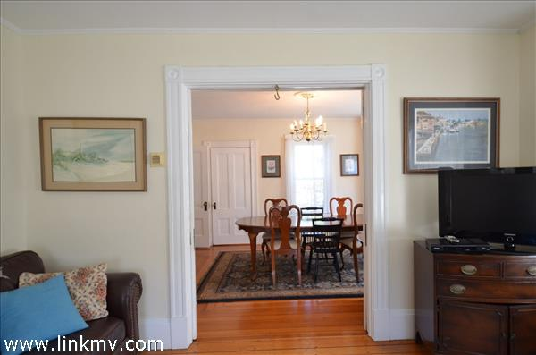 Looking to the dining room