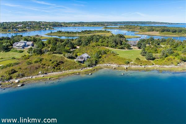 Spectacular Chilmark 3 home waterfront  estate on Stonewall Pond