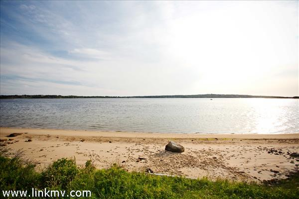 Deeded access and use of sandy Menemsha Pond beach