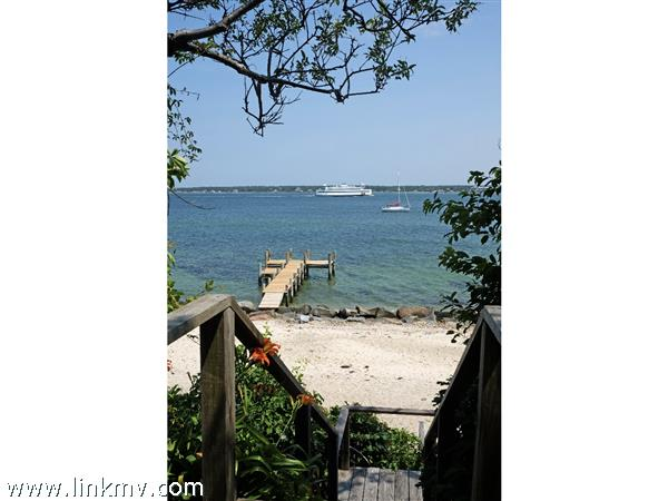 Stairway to you own personal private beach and dock