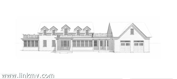 Front Exterior of house w/attached 2 car garage with finished space above