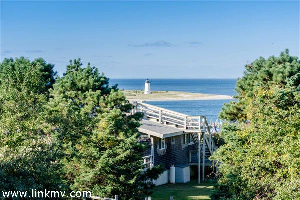View of Edgartown Lighthouse from Second Story Deck