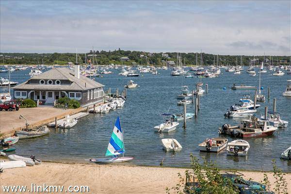 Collins Beach, the Reading Room, and Edgartown Harbor with Chappaquiddick