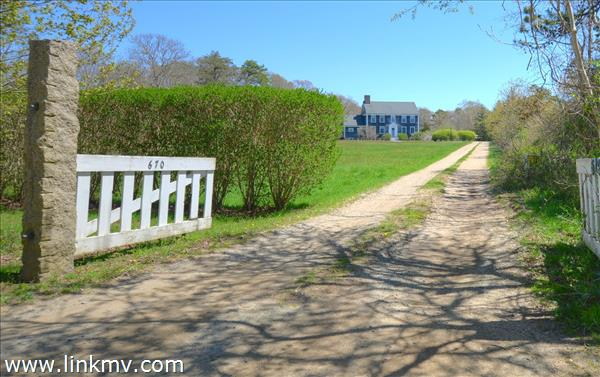 Grand entrance in historic West Tisbury