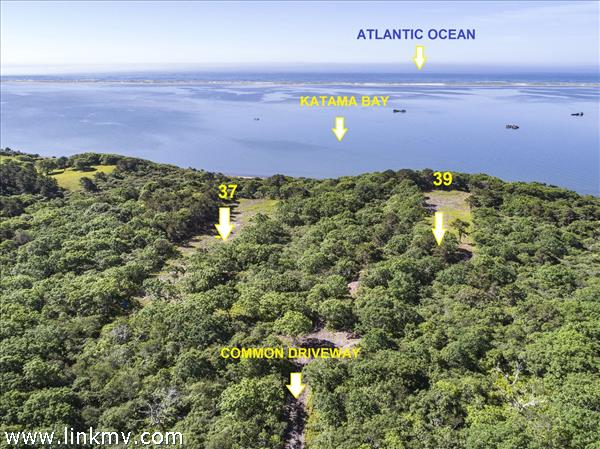 6.46 acres Waterfront on Katama Bay. 8 bedrooms allowed on this land.