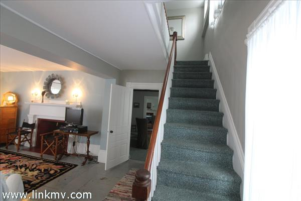 Front entry and stairway to 2nd floor