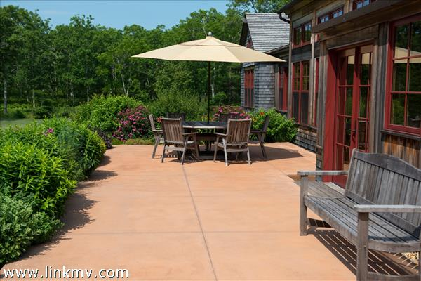 patio on west side