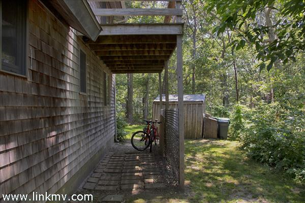 Storage Under Side Deck, Shed In Distance