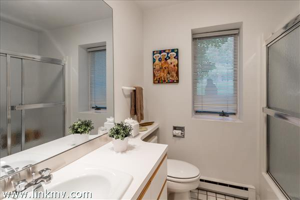 Full bathroom for the lower level bedrooms.