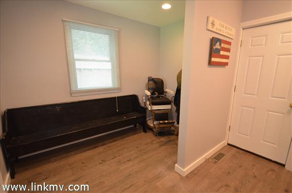 Entry into mudroom from back yard