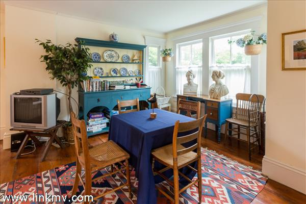 One of the many pleasant additional rooms for family activity.  The game table invites participation.