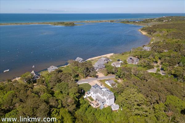 Views of Sengekontacket Pond, the Barrier Beach and Nantucket Sound