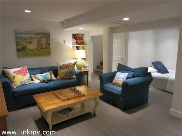 Finished basement living area. 22 X 17