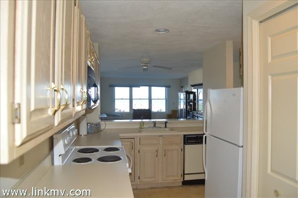 Open living room with HUGE waterview
